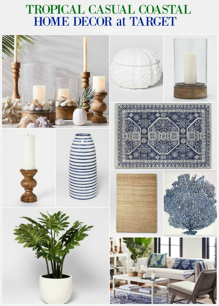 Tropical Casual Coastal Home Decor From Target Tropical Home