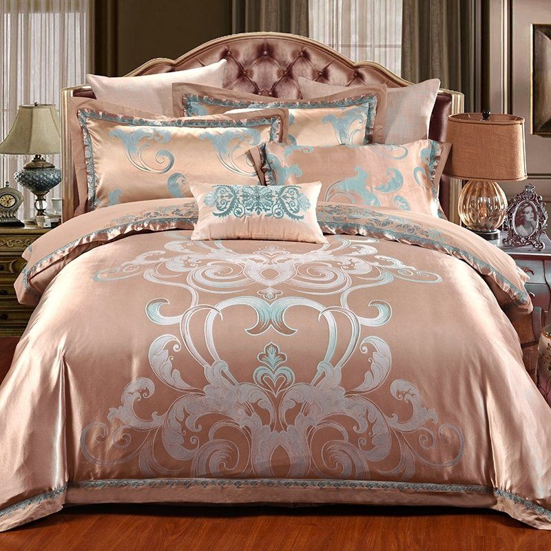Rose Gold King Size Bedding Bedspread Bedroom Sets Bedding Sets Bed Gold Bedding Sets
