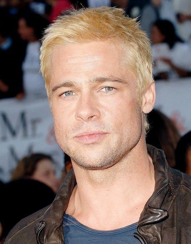 Brad Pitt Hairstyles Brad Pitt Hair Bleached Hair Men Brad Pitt