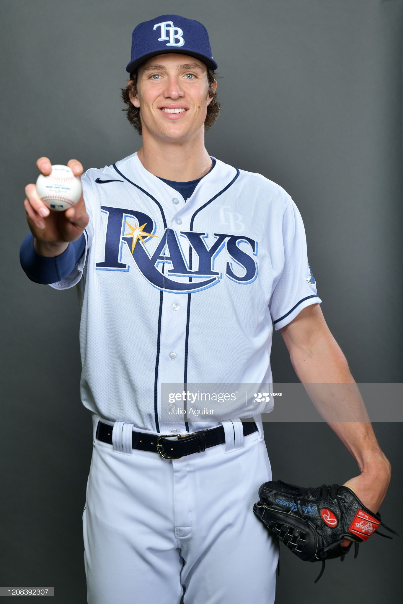 Tyler Glasnow Of The Tampa Bay Rays Poses During Photo Day At In 2020 Tampa Bay Rays Tampa Bay Rays Baseball Tampa Bay