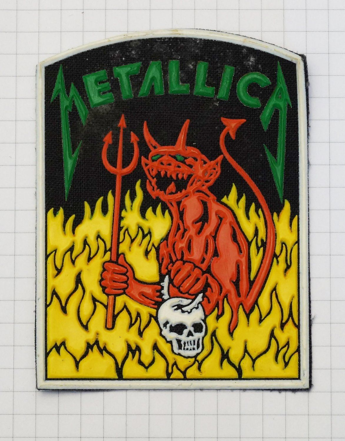 Metallica Jump In The Fire Rubber Patch Vintage 80 S 90 S Very Rare Collection Metallica Metallica Art Patches