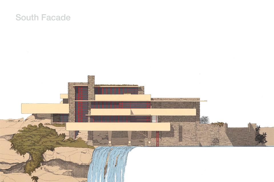 South Facade Fallingwater Frank Lloyd Wright Dream