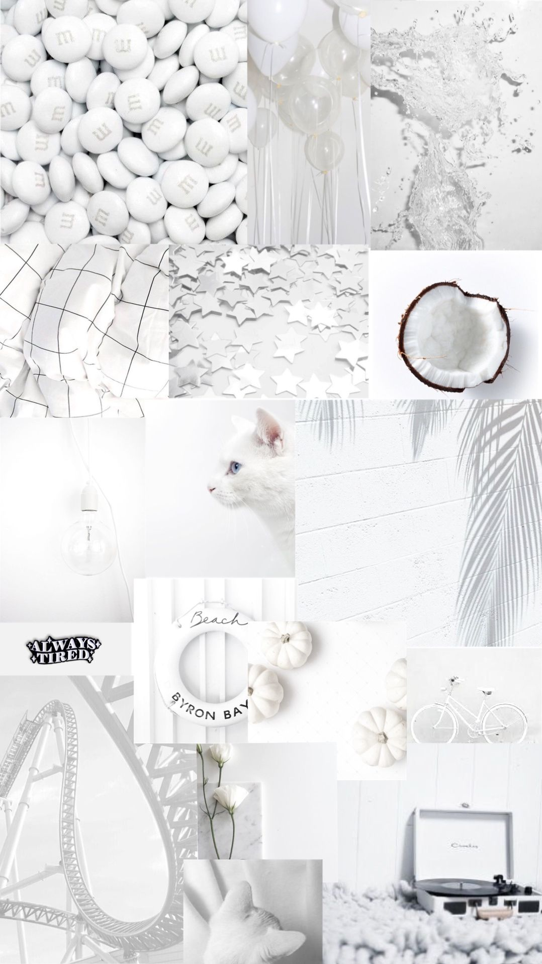 White Aesthetic Background Galaxy Wallpaper Kertas Dinding Ruang Seni