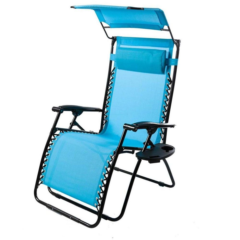 Deluxe Zero Gravity Chair With Canopy Table Drink Holder Chair Pads Walmart Target Lounge Chairs Chair