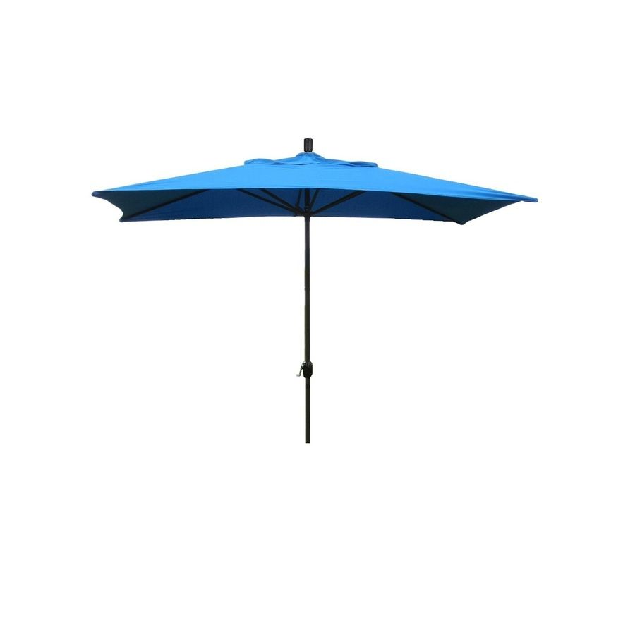 Escada Designs 10 Ft Rectangular Pacific Blue With Aluminum Frame No Tilt Market Patio Umbrella Lowes Com In 2020 Patio Umbrella Best Patio Umbrella Rectangular Patio Umbrella