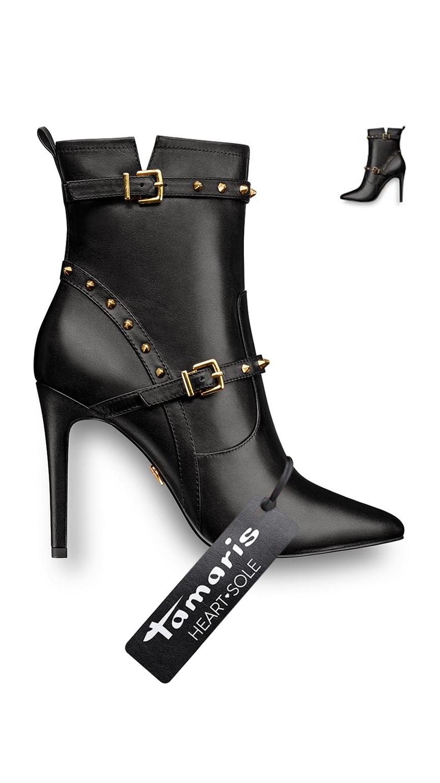 Tamaris Black Stiefelette Tamarisofficial Schuhe Online Kaufen Schuhe Online Absatz