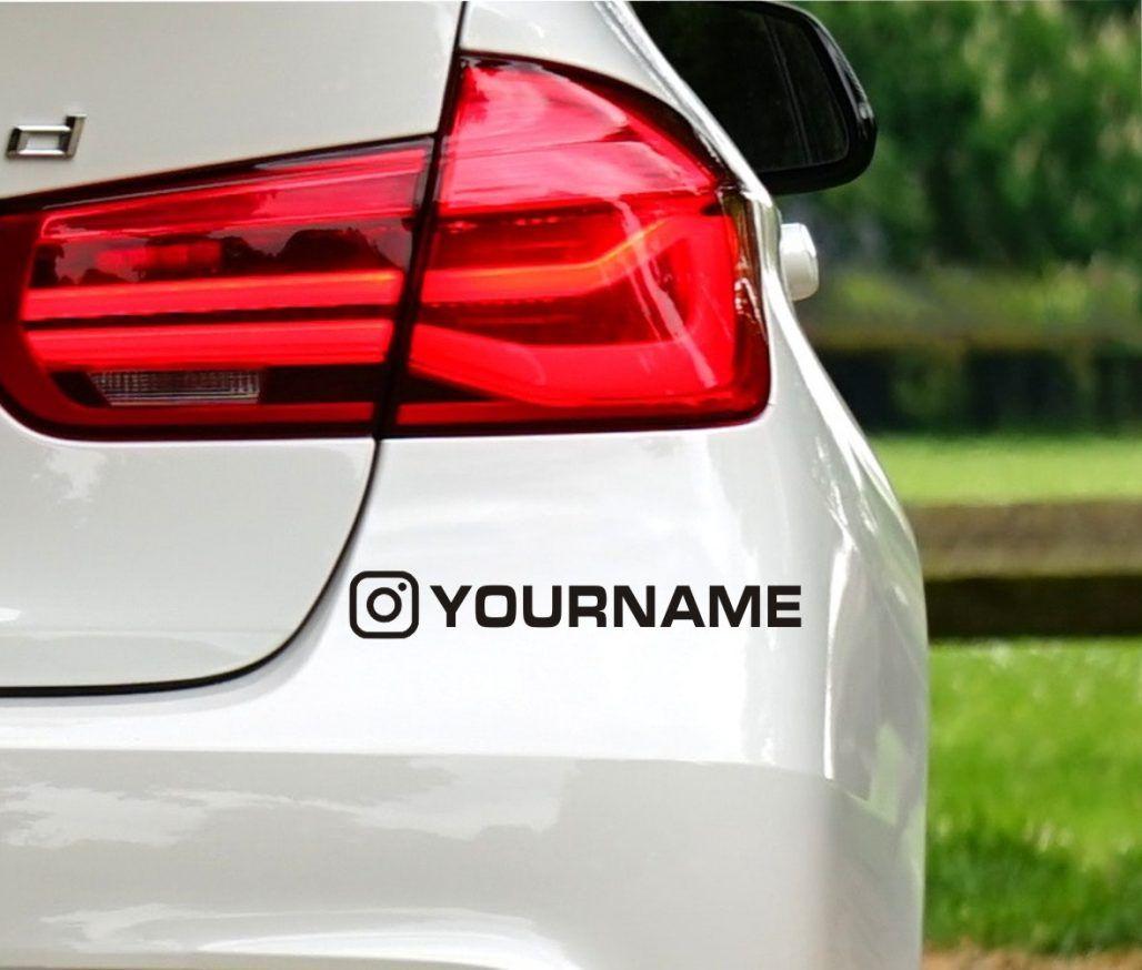 Custom Instagram Name Sticker Uk Car Decals Nurse