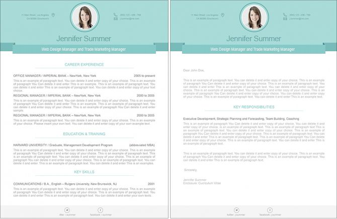 Resume 110470 Premium line of Resume  Cover Letter Templates Easy - apple pages resume templates