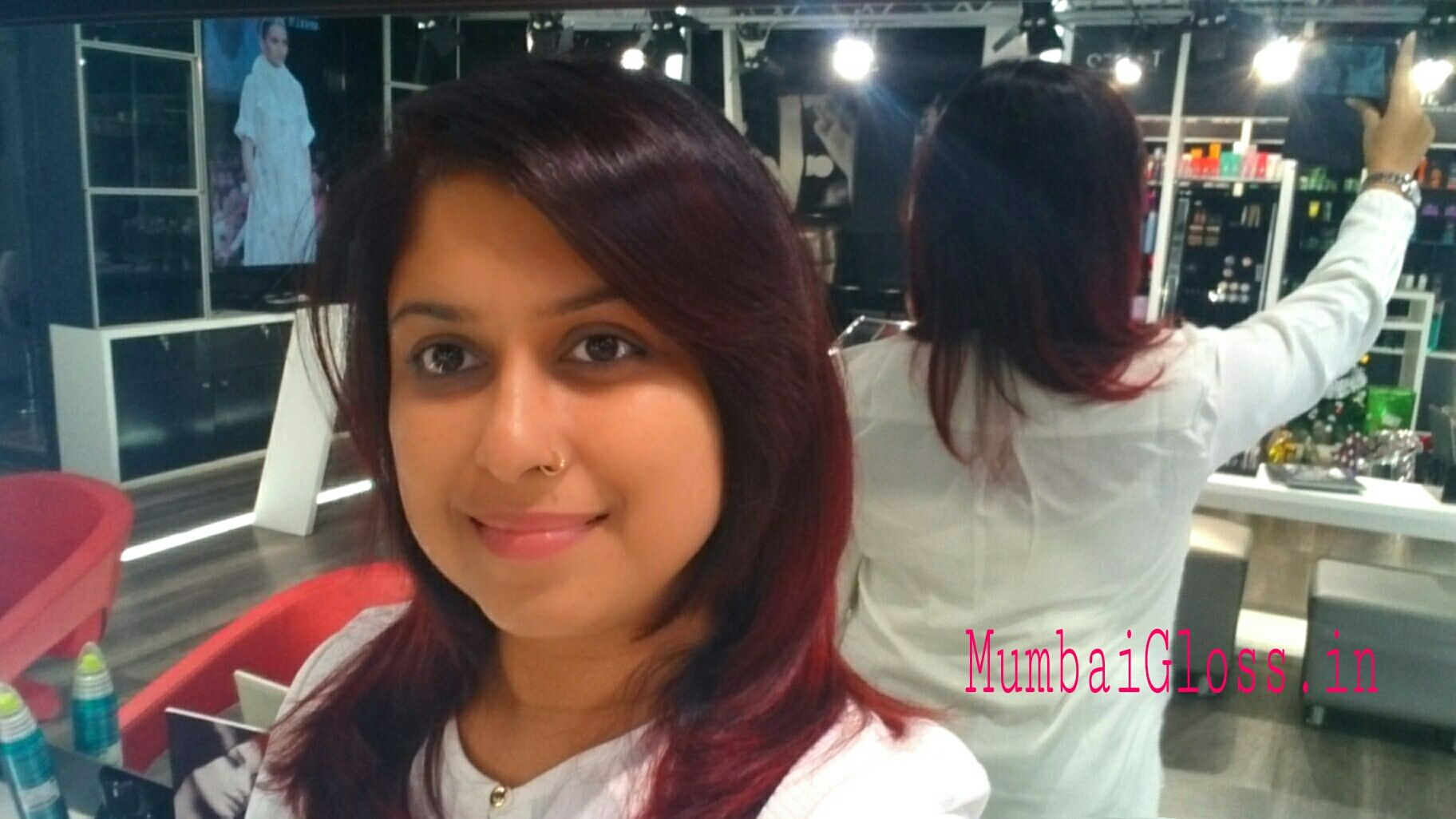 From Brown to Red hair colour with Lakme Absolute Salon » Mumbaigloss
