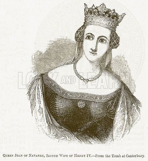 Queen Joan of Navarre, Second Wife of Henry IV. Illustration for ...