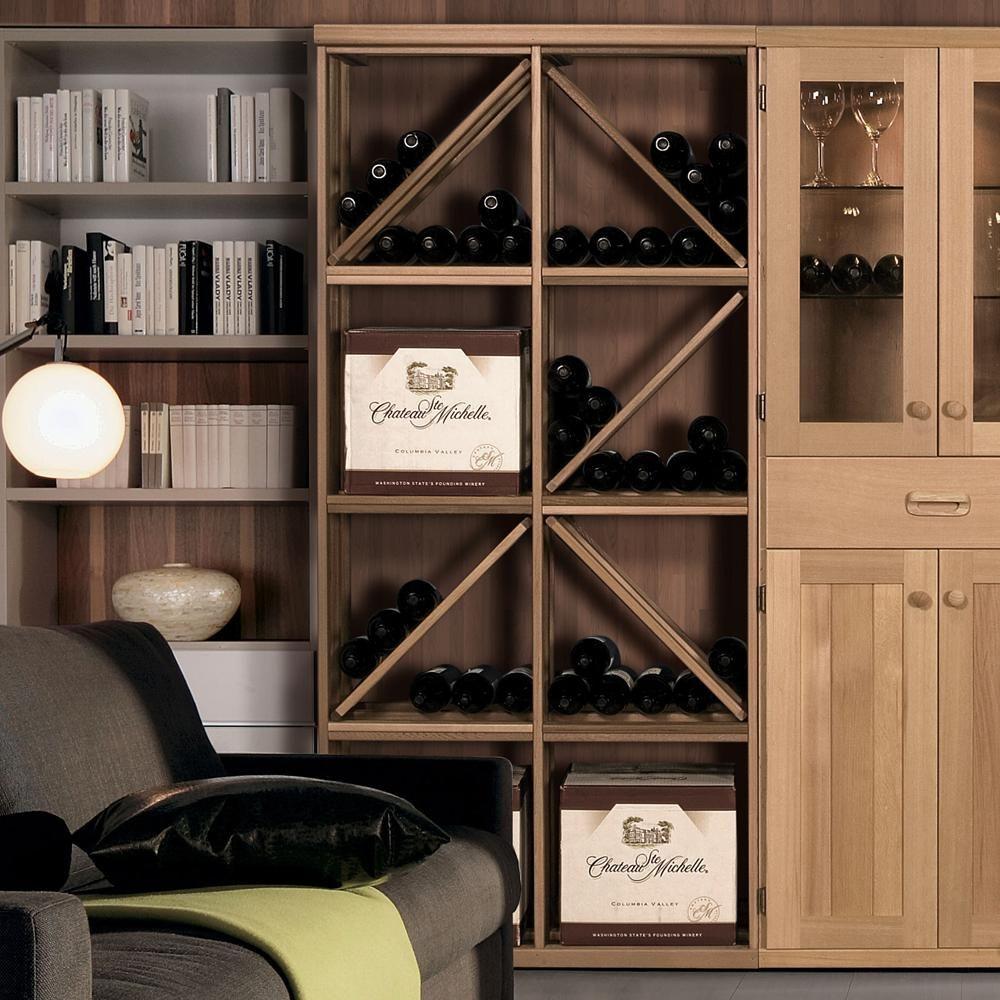 Vinotemp 72Bottle Pine Floor Wine Rack XB6.1 Wine rack