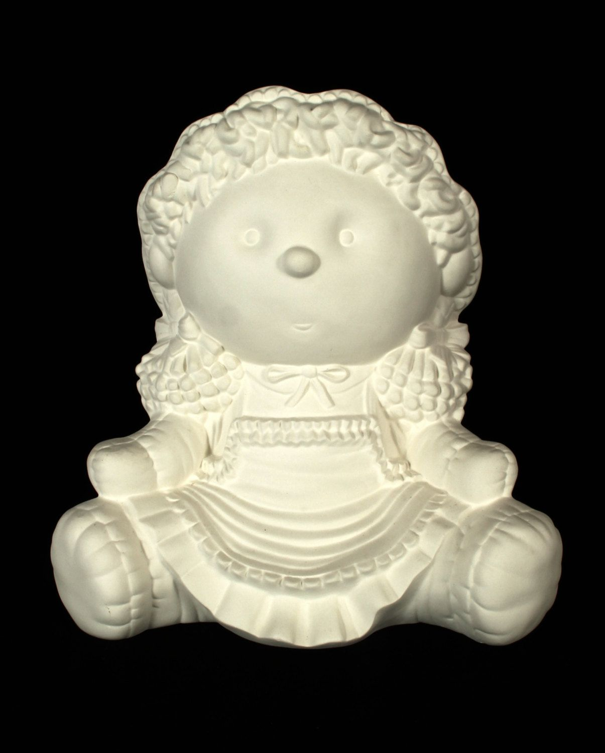 Vtg Ceramic Bisque Cabbage Patch Girl Ready To Paint