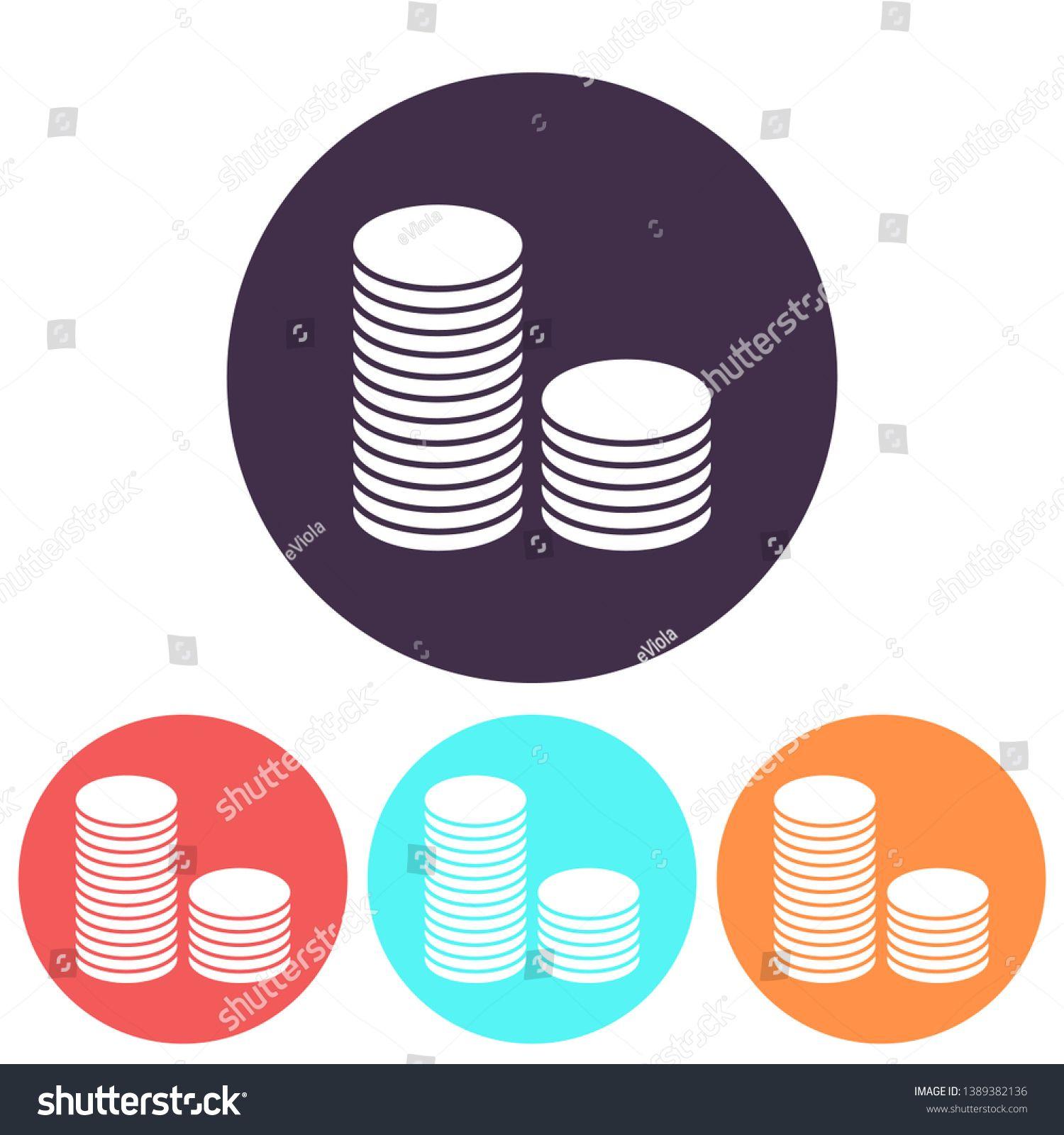 vector icon coin. lorem ipsum Flat Design JPG Sponsored