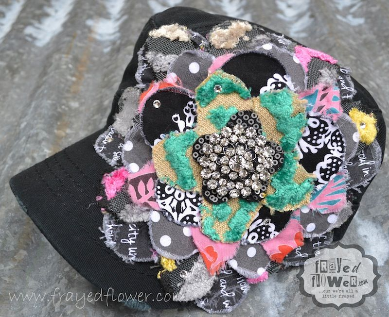 Victoria Flower hats, Flowers, Frayed
