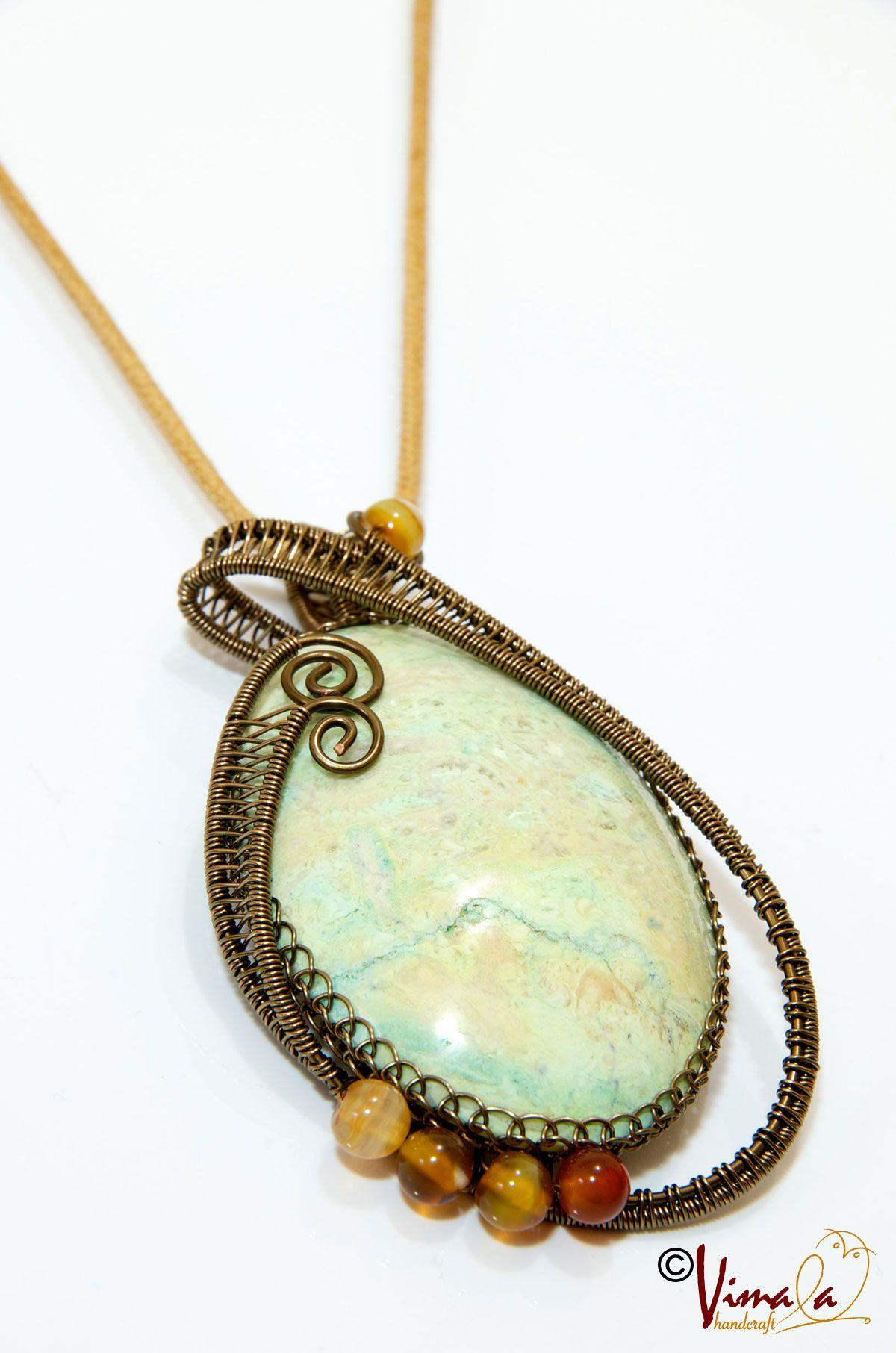AVOCADO, Wire Wrapped Jewellery Necklace | Vimala Handmade Jewellery ...