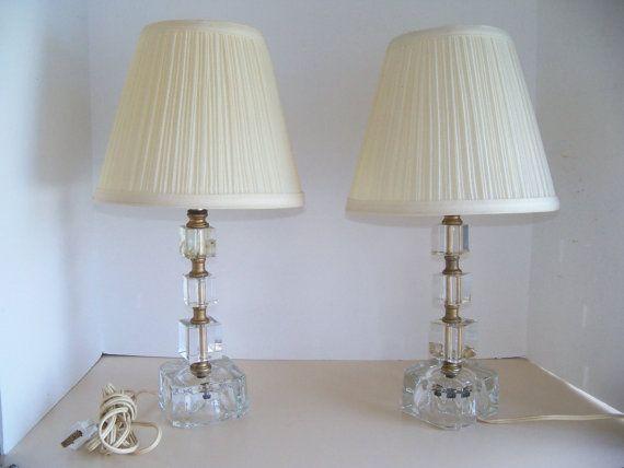 vintage 1940u0027s lead block glass vanity lamps retro hollywood regency luxury vintage home decor lighting