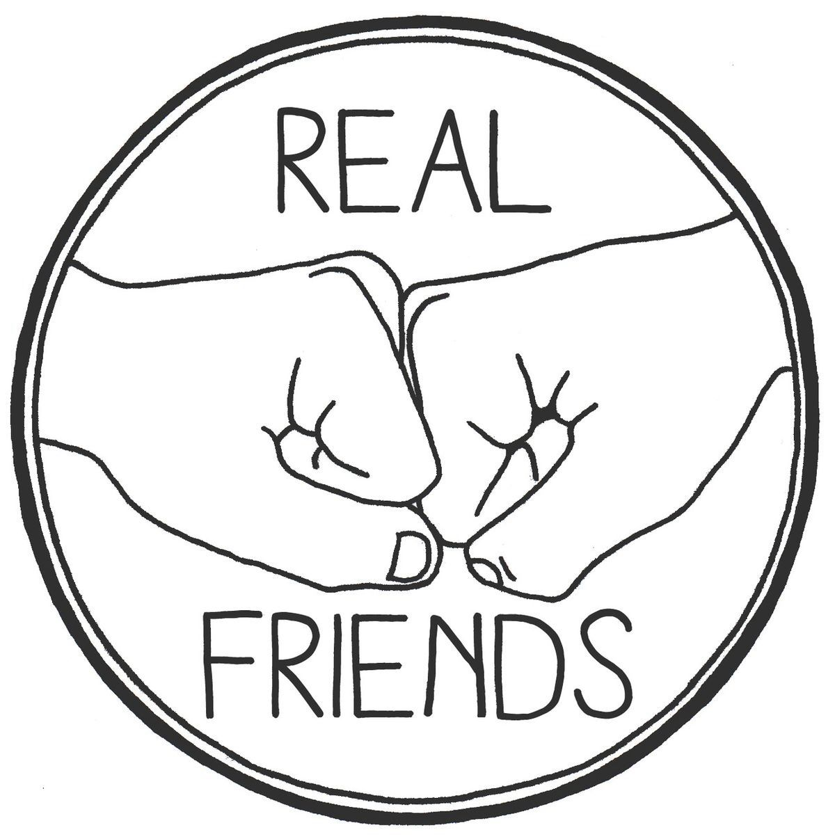 Real friends tumblr stickers cute stickers laptop stickers real friends tumblr png