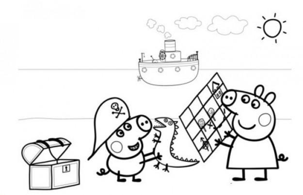 Happy Peppa Pig George Coloring Pages 1 | Peppa pig ...