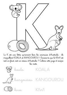 coloriage imprimer alphabet lettre k