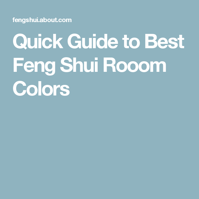 What Colors To Decorate Every Room According To Feng Shui