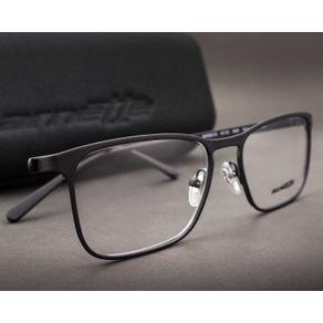 O Óculos de Grau Masculino Arnette Woot! S AN6116 696-53 modelo quadrado  feito em metal leve e confortável. Na cor preta fosca emborrachada, armação  f 85529a81fc