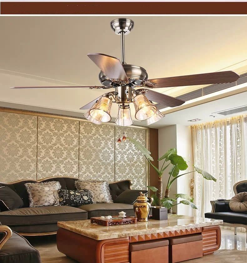 living room Lighting Low Ceiling Fan in 2020 Living