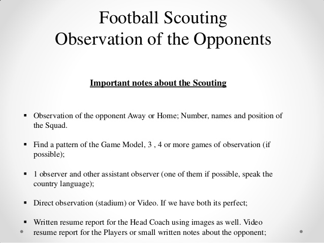 Football Scouting Report Template 8 Templates Example Templates Example Report Template Football Templates