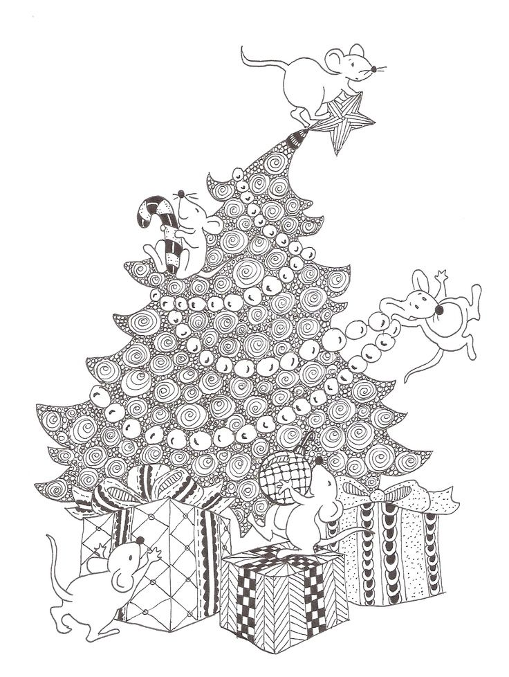 Zentangle made by Mariska den Boer #Christmas #Zentangle Christmas ...
