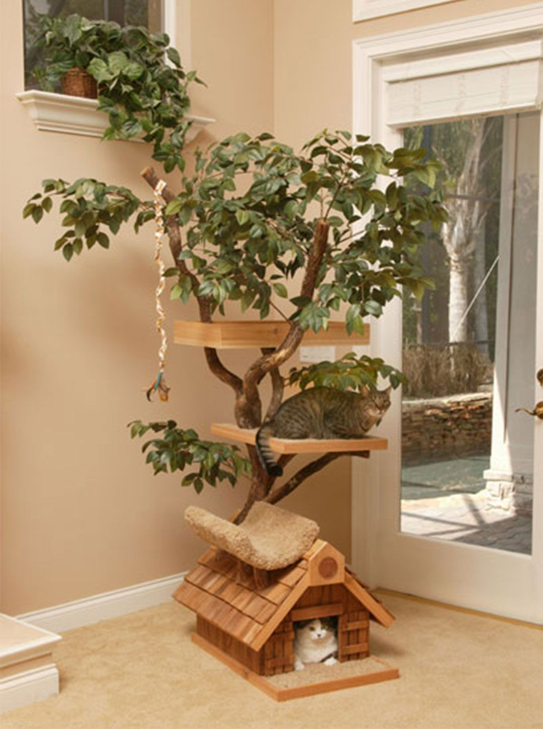 Perfect Cat Tree Houses Ideas With Real Trees By Pet Tree House Cool Cat Tree Houses  Picture