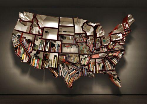 Ron Arad created this United States Bookshelf featuring all 48 contiguous states