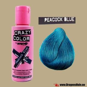 Hårfarge: Peacock Blue -Crazy Color