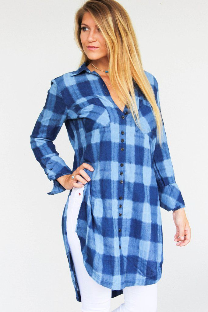 Free People Plaid Tunic $ 128