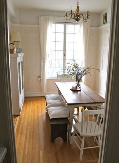 Farmhouse Table In An Apartment Farmhouse Table For Narrow Or