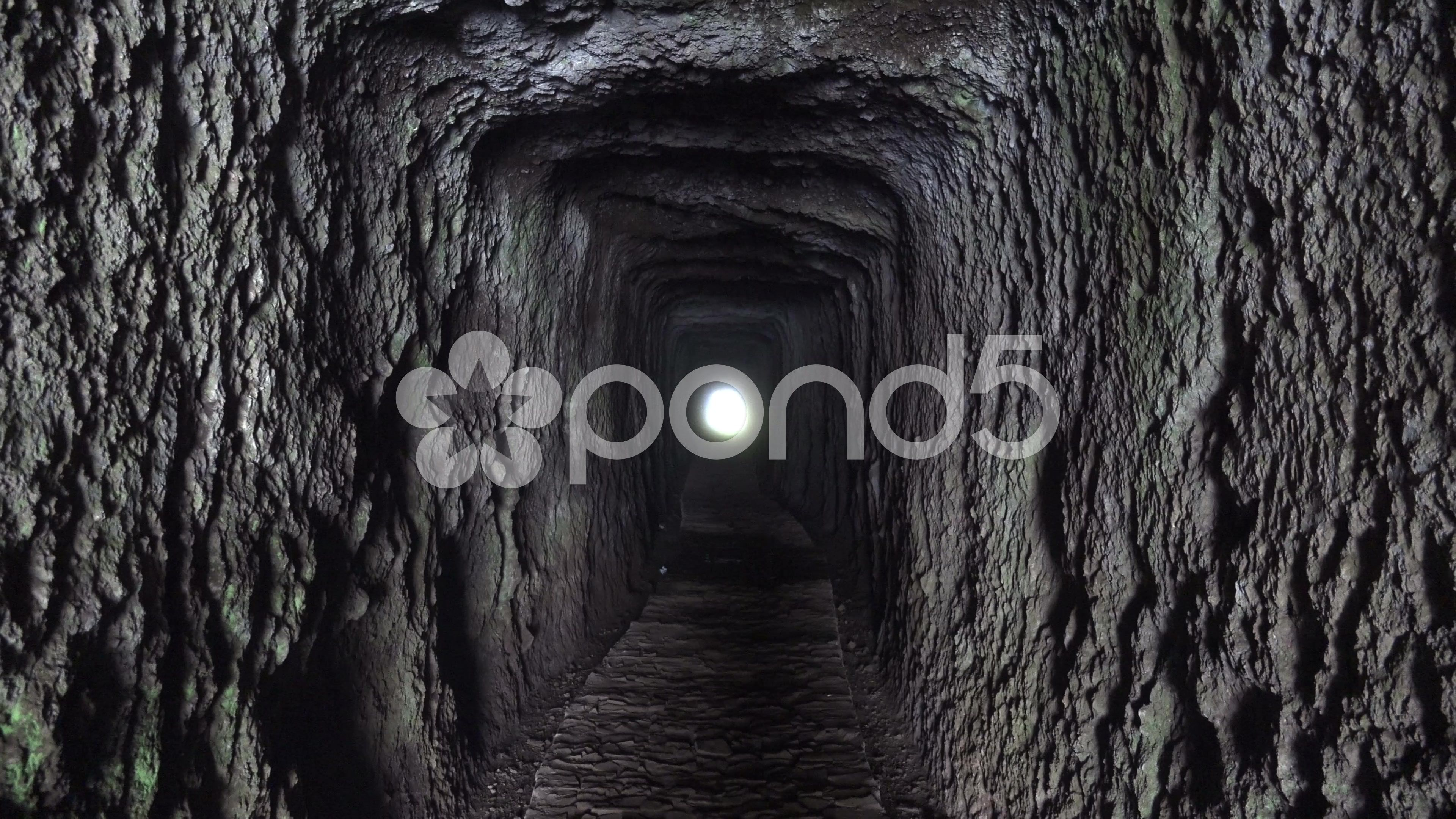 4k Small tunnel passage through mountain in Madeira - Stock Footage | by Beckhusen