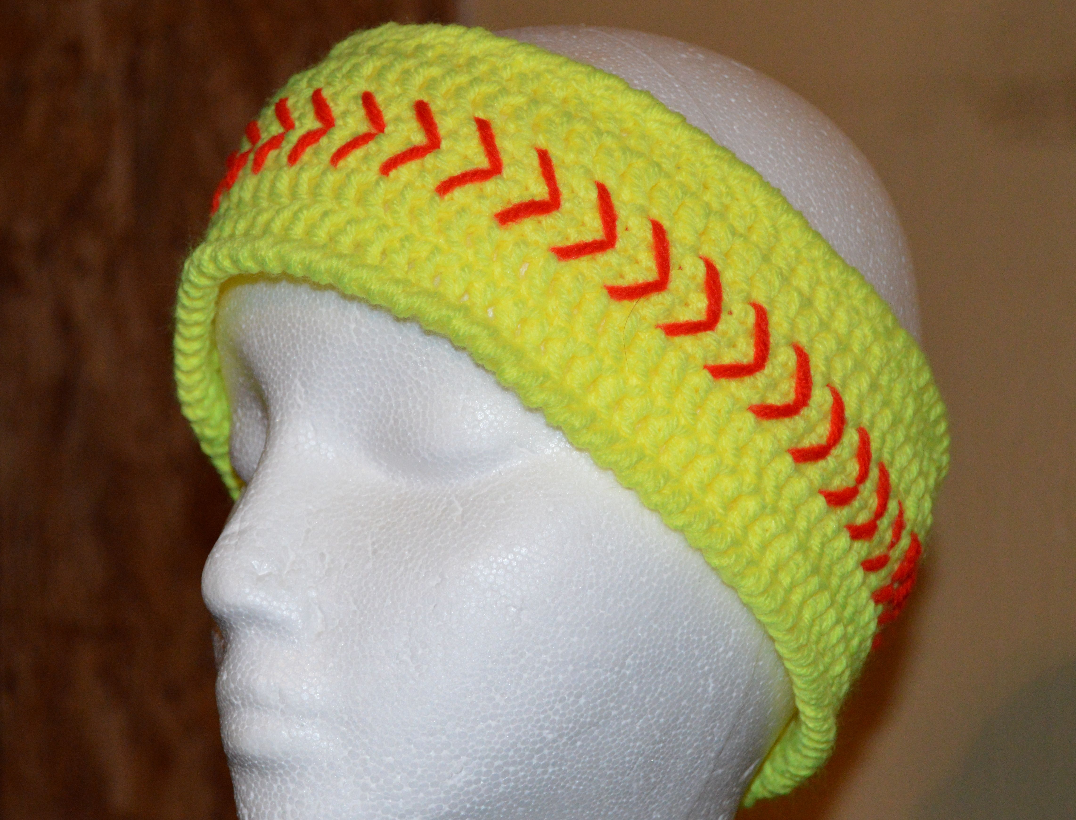 Softball head band no written pattern contact me and I will tell you ...