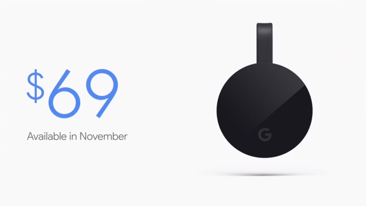 Google Chromecast Ultra Price, Specs and Features Announced