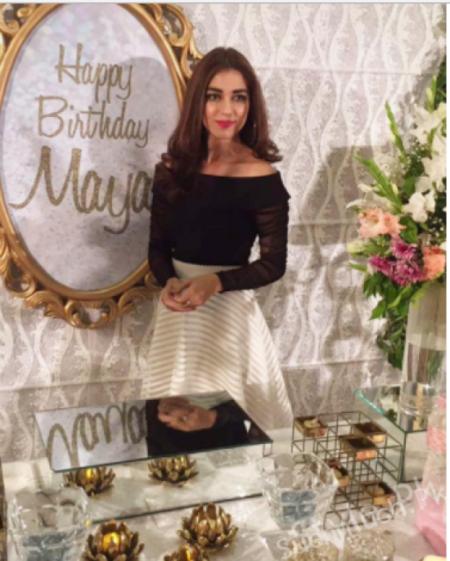 Grand Birthday Celebration Of Maya Ali Hahery Lahore Maya Ali Pakistani Celebrities Famous Pakistani C 18th Birthday Outfit Birthday Party Outfits Maya Ali