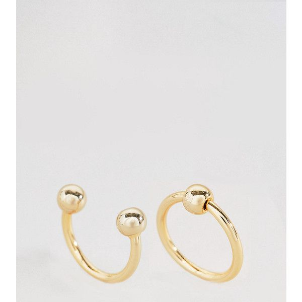 Cheap Monday Pierced Rings - Gold 6X6pT9Wrjc