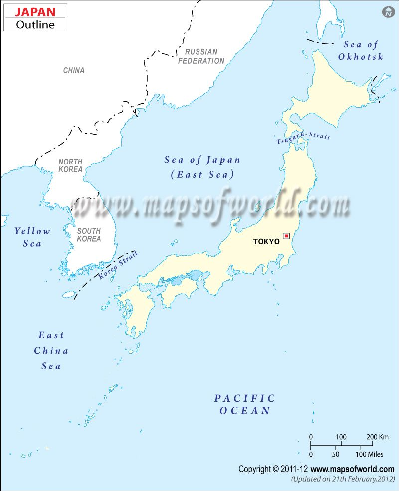 Japan Outline Map I Maps Pinterest Time Zone Map Japan Time - Japan map outline