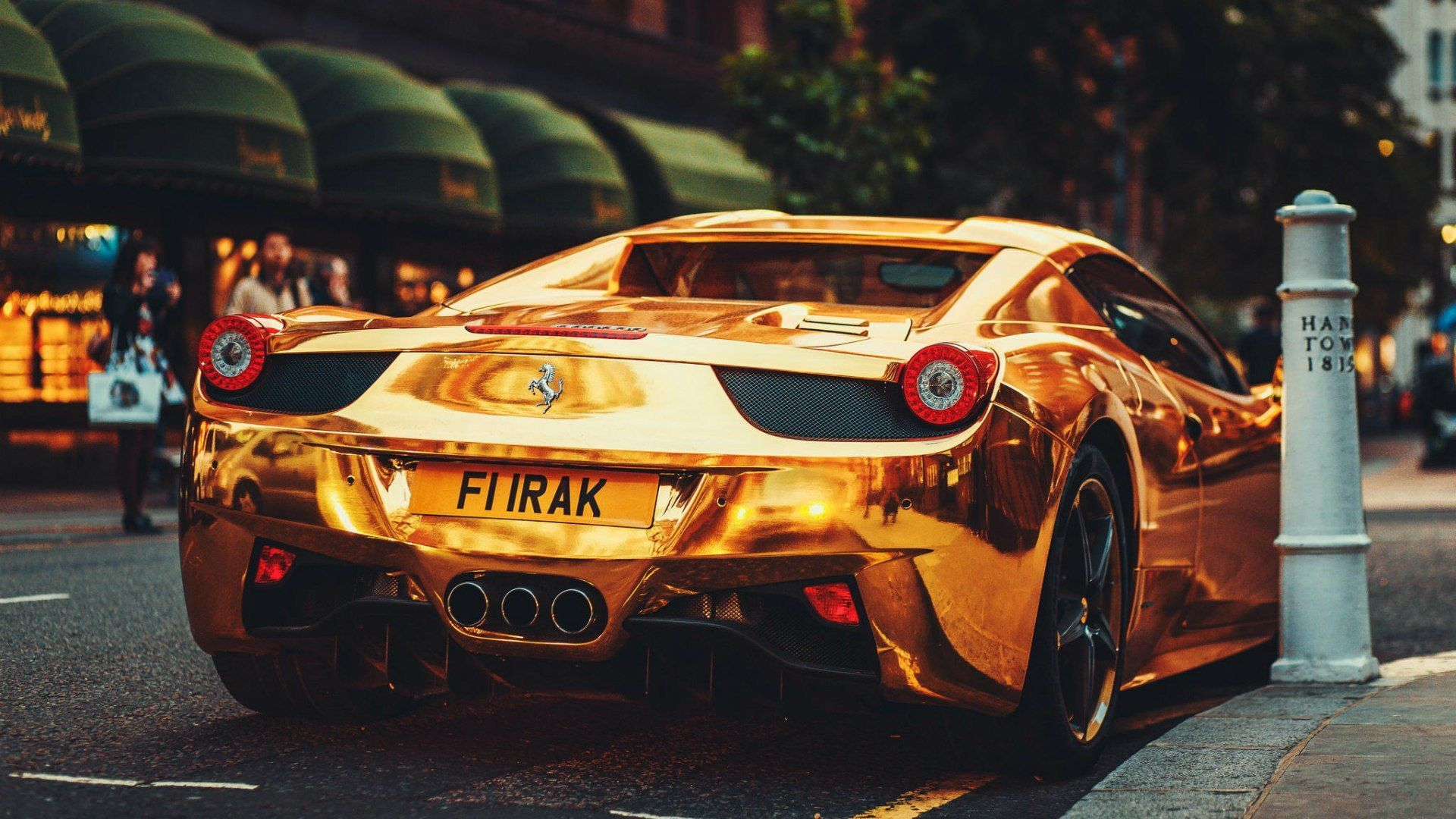 Gold Wallpaper Ferrari 458