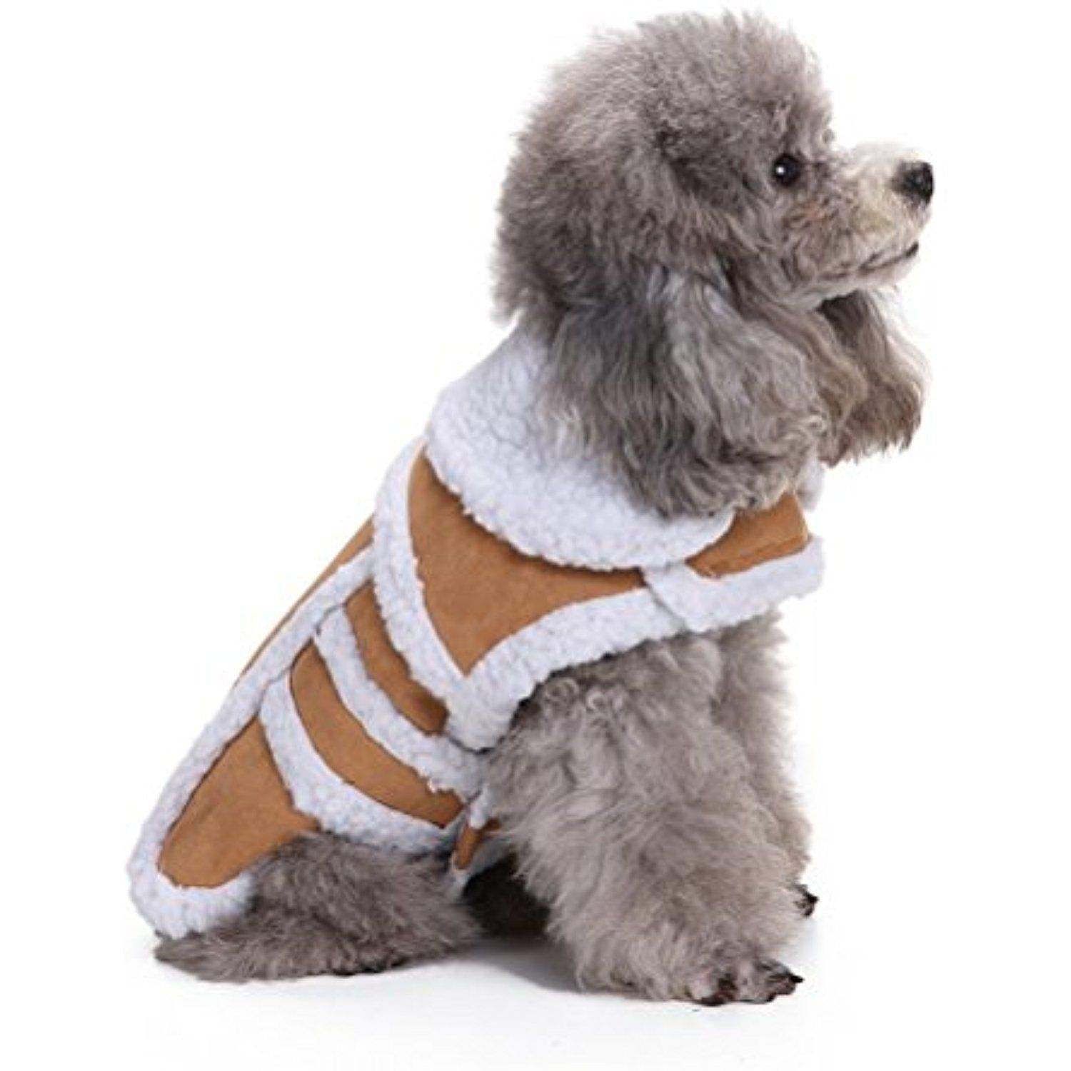 8f87982b7650 ZUNEA Thick Soft Windproof Dog Snow Coat Dog Warm Jacket Winter Dog Clothes  Dog Vest Parka for Small Pet Puppy Dog Cat Brown XS     Be sure to check  out ...