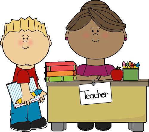 Boy at Teacher's Desk Clip Art - Boy at Teacher's Desk Vector ...
