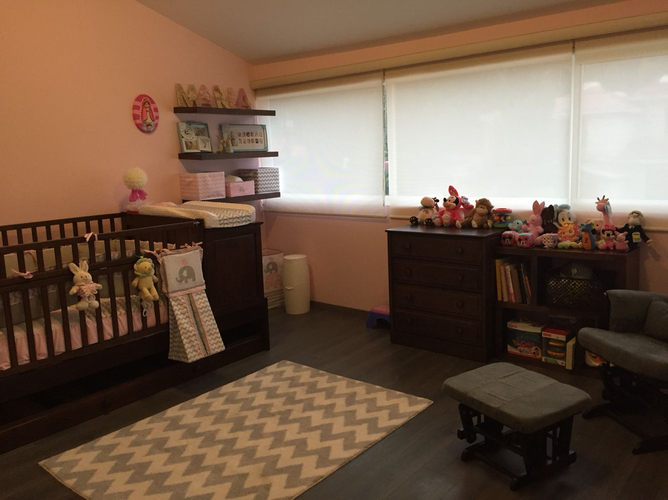 Nursery baby pink and gray