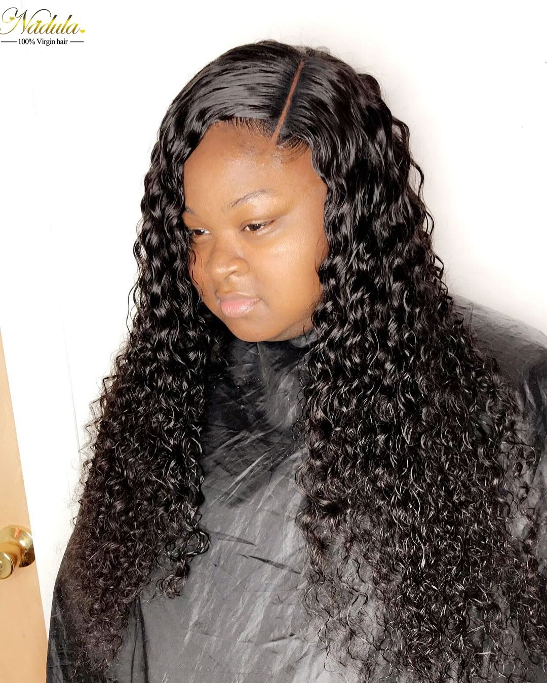 Strict 3 Bundles Malaysian Loose Wave With Pre Plucked Closure With Baby Hair Bouncy Curl No Shedding No Tangle Non Remy Black 1b 3/4 Bundles With Closure