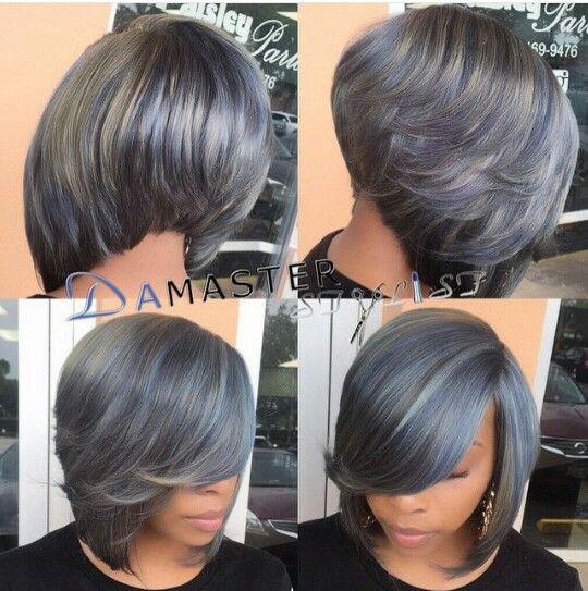 Grey Bob Quick Weave Gorgeous Gray Hair Hair Styles Short Hair Styles