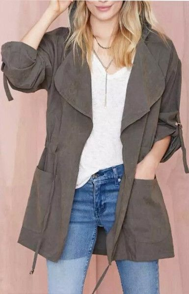 Casual Hooded Trench
