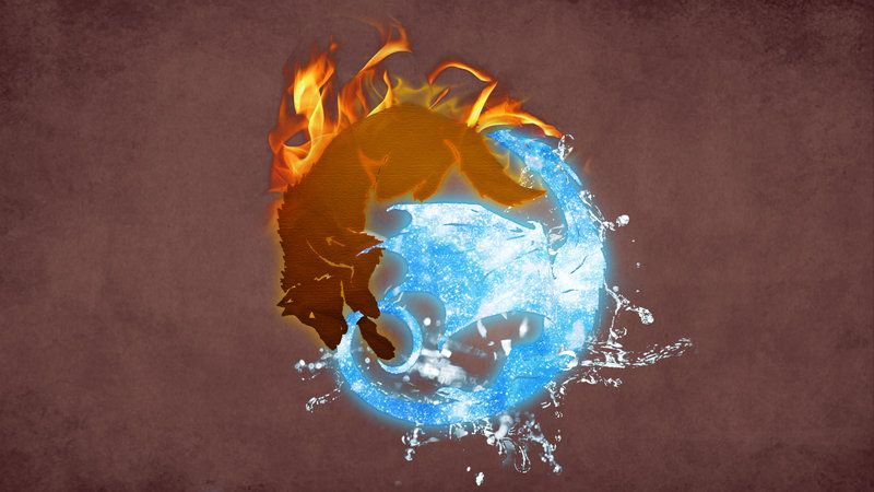 yin and yang dragonwolf  art exhibit  pinterest  wolf
