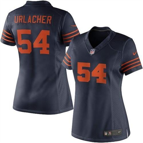 best sneakers 81248 a942c Nike Women's Chicago Bears Brian Urlacher Limited Throwback ...