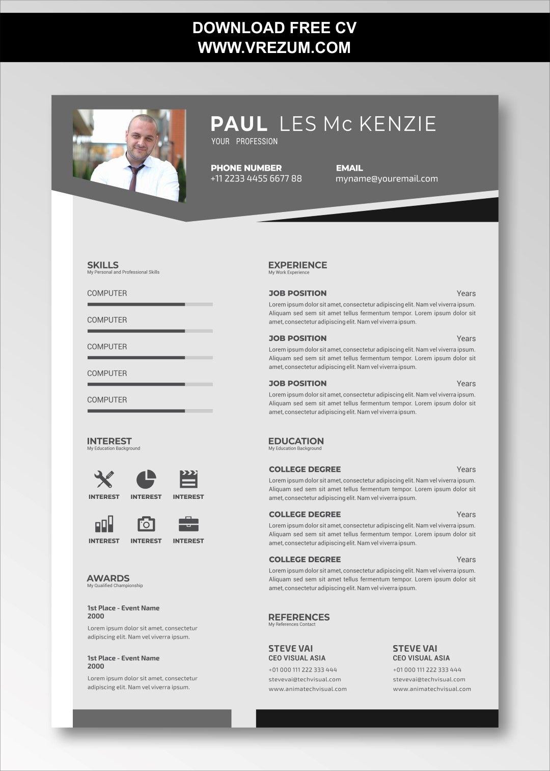 Editable Free Cv Templates For Factory Worker Cv Template Free Cv Template Resume Template Free