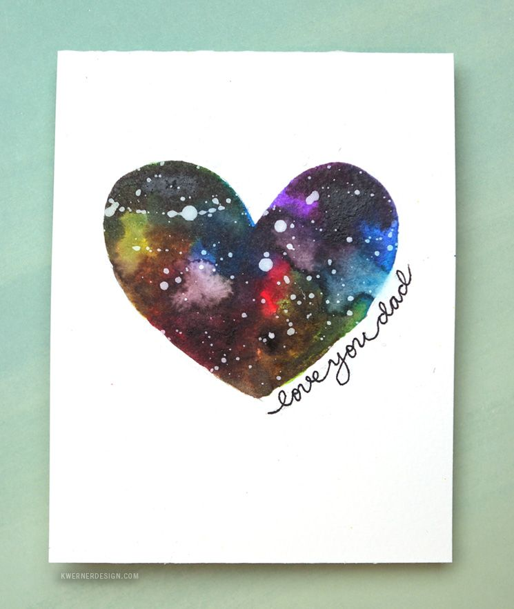 Easy Diy Galaxy Father S Day Card Made With Minimal Supplies